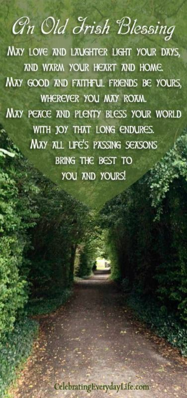 An Old Irish Blessing {A St. Patrick's Day Quote}