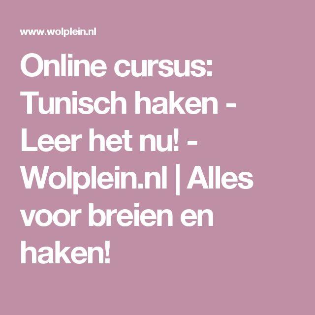 Online cursus: Tunisch haken - Leer het nu! - Wolplein.nl | Alles voor breien en haken!