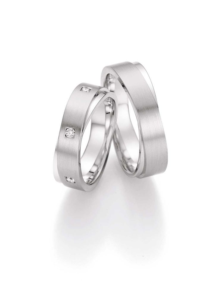Wedding rings White Gold with Diamonds 0.2220 ct W/Si