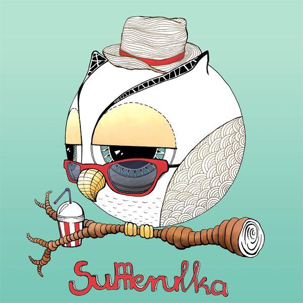 Summerulka :) #summertime #sowa #sowulka #cute #owl #sunglasses #chill