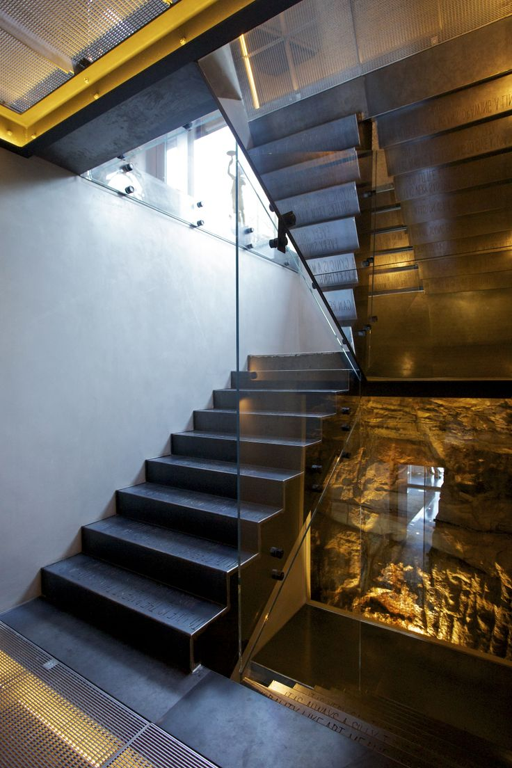 W House Rock Face Staircase - Bruce Stafford Architects