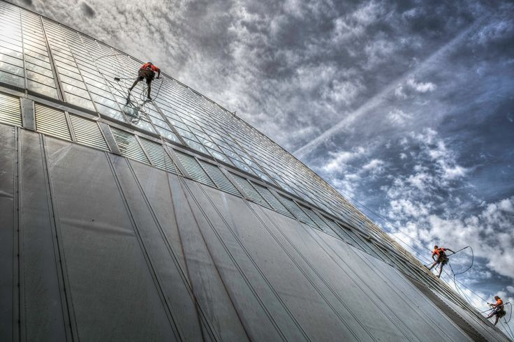 SA Window Cleaning Crew - Cleaning the iconic Conservatory at Bicentennial Gardens, Adelaide South Australia.