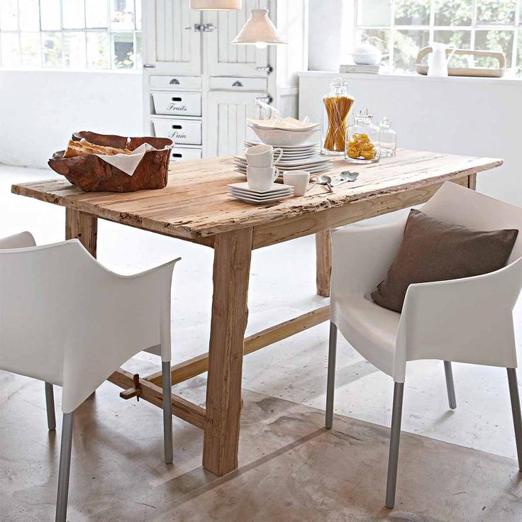 Ber ideen zu teakholz tisch auf pinterest m bel for Esstisch 300x100
