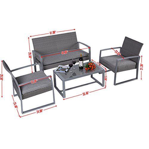 Garten loungemöbel polyrattan  Die besten 25+ Rattan lounge set günstig Ideen auf Pinterest ...