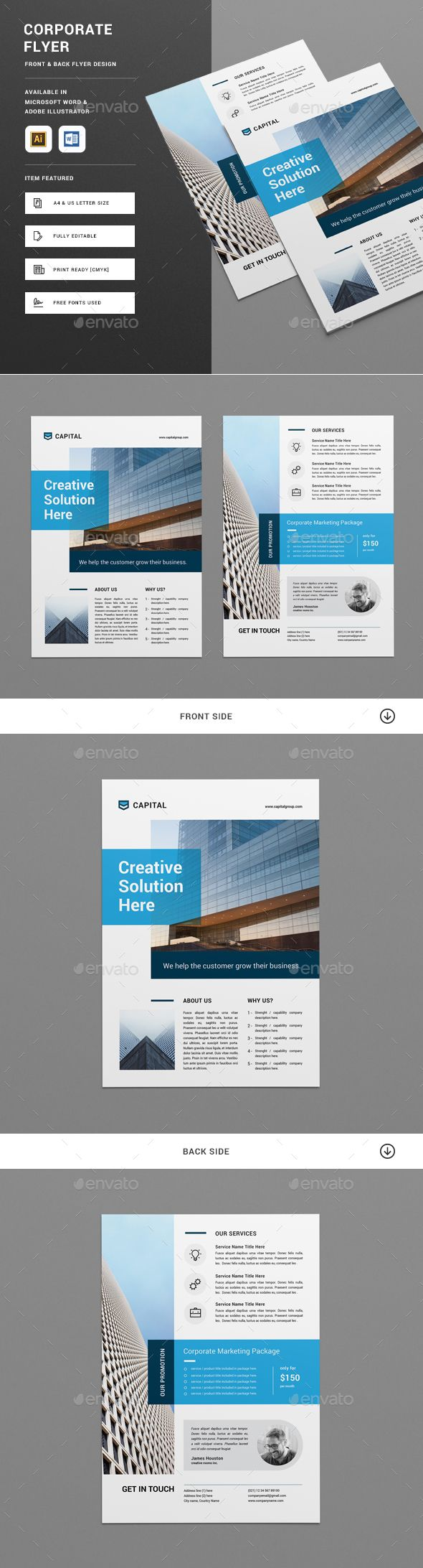 473 best Brochures / Flyers images on Pinterest | Brochures ...