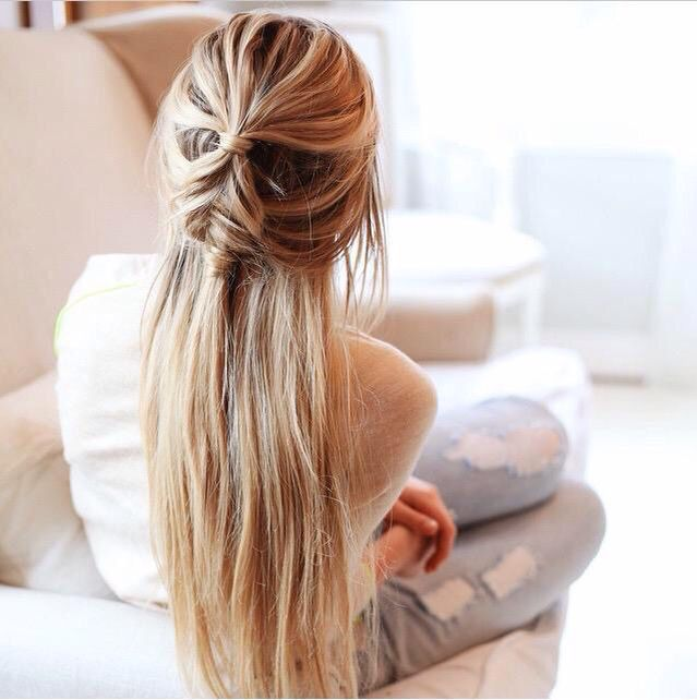 Hairstyle Goals : Casual and looks effortless Hair Pinterest Casual