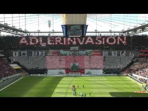 Adlerinvasion - Choreografie gegen Wolfsburg - Eintracht Frankfurt International - YouTube