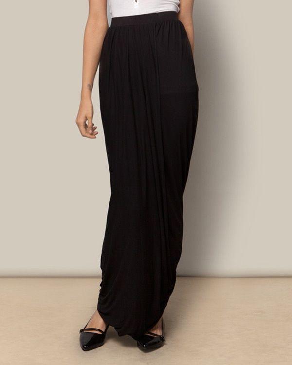 NICOBAR Jersey Wrap Skirt - Black