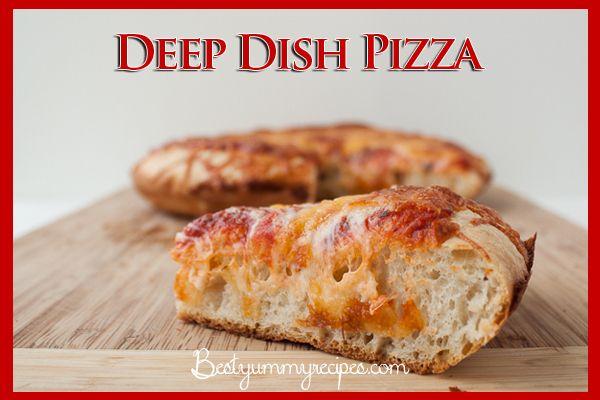 Deep Dish Cast Iron Pizza – Food Recipes | Cocina | Pinterest