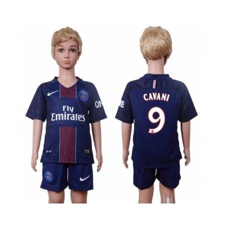 PSG Trøje Børn 16-17 #Cavani 9 Hjemmebanetrøje Kort ærmer.199,62KR.shirtshopservice@gmail.com