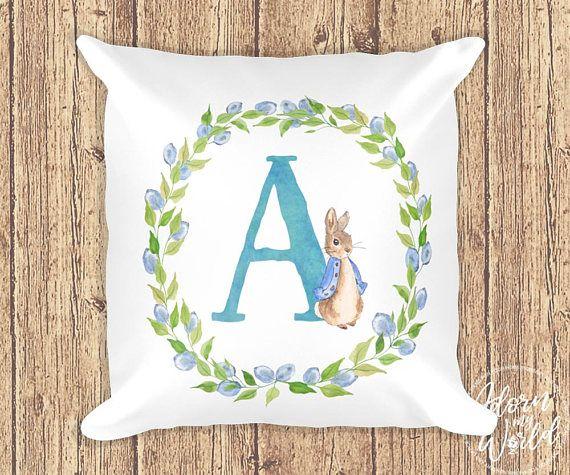 Peter Rabbit Pillow Initial Letter Pillow Peter Rabbit