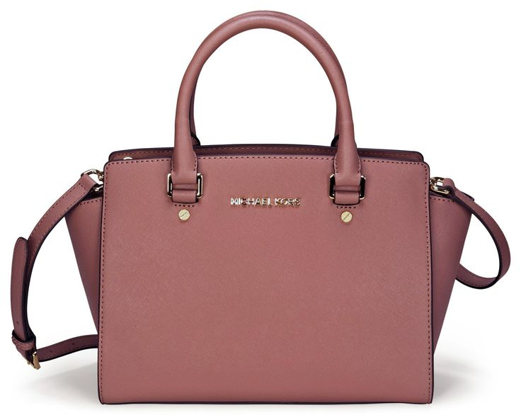 Michael Kors Selma Dusty Rose Medium Satchel Leather Handbag 30S3GLMS2L NEW