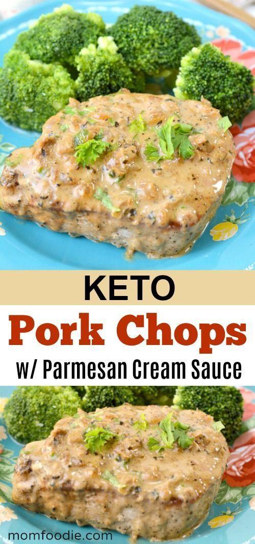 Keto-Schweinekoteletts mit Parmesan-Sahnesauce Rez…