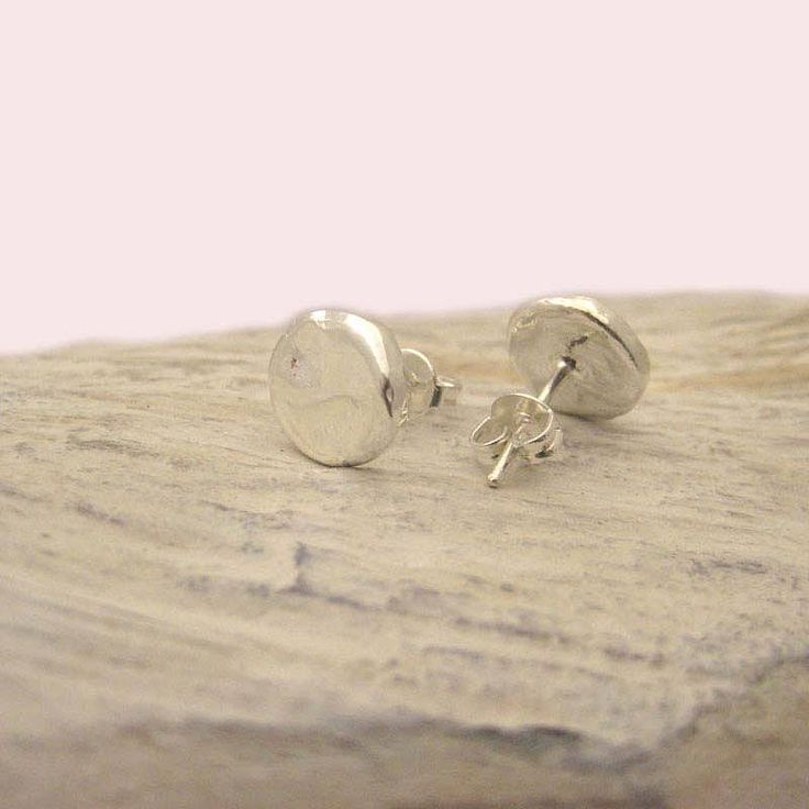 contemporary silver studs by tigerlily trading   notonthehighstreet.com