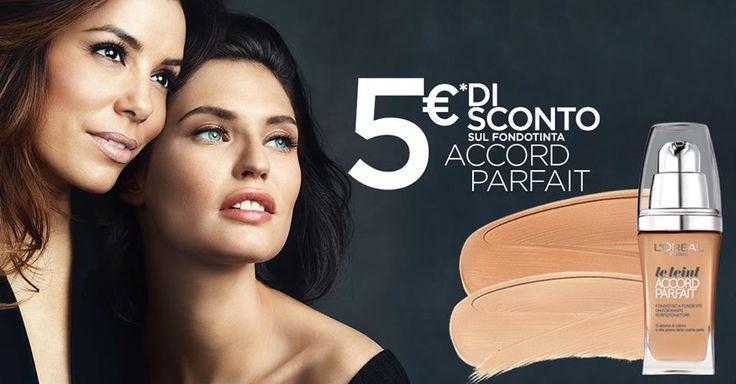 Buono sconto fondotinta Accord Parfait L'Oréal - http://www.omaggiomania.com/buoni-sconto/sconto-fondotinta-accord-parfait-loreal/
