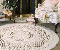 Homemade Crocheted Rug Patterns: Lace Rugs, Rugs Patterns, Picot Lace, Large Picot, Patterns Epattern, Crochet Rugs, Crochet Patterns, Rugs Crochet, Crochet Epattern