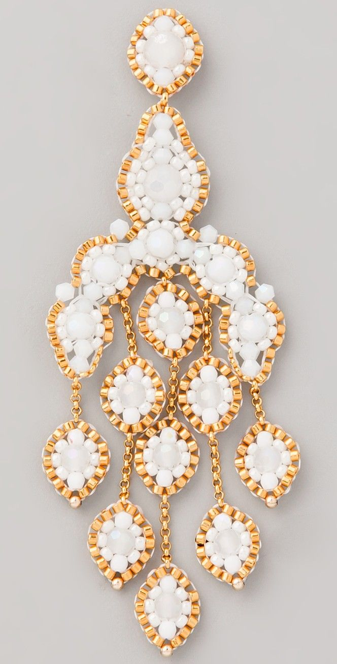 Miguel Ases Opalite Quartz Chandelier Earrings | SHOPBOP SAVE UP TO 25% Use Code: GOBIG16