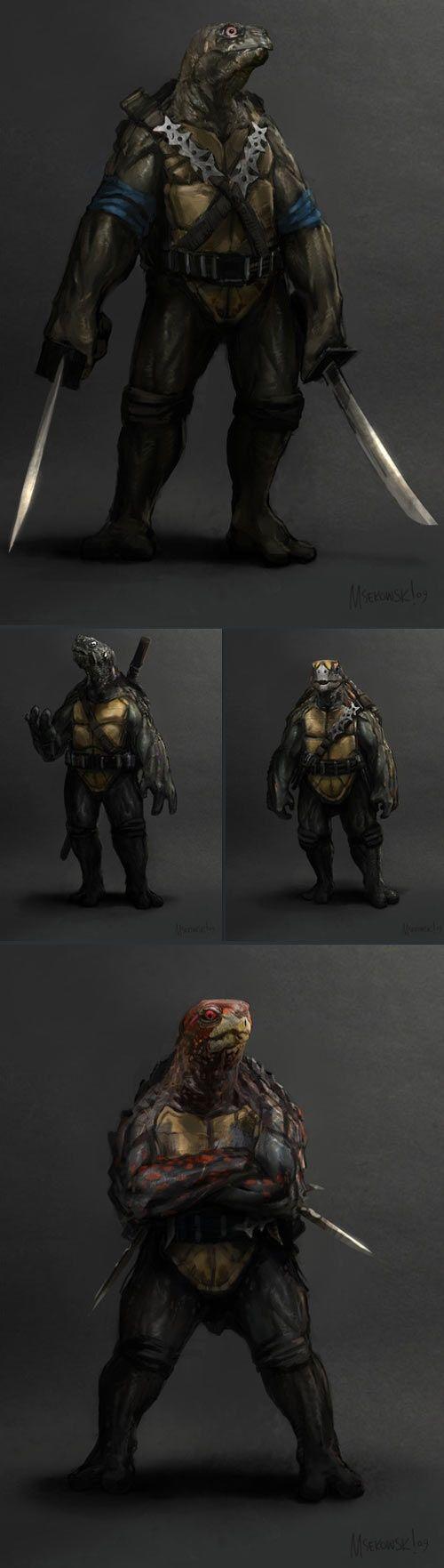 Realistic Teenage Mutant Ninja Turtles…this is kind of weirding me out