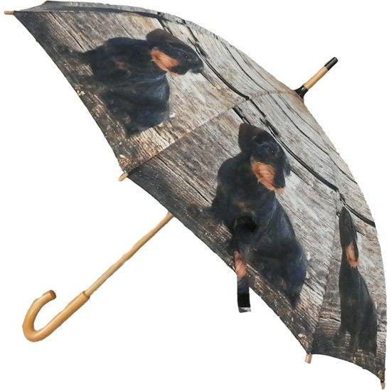 Paraplu's met honden opdruk