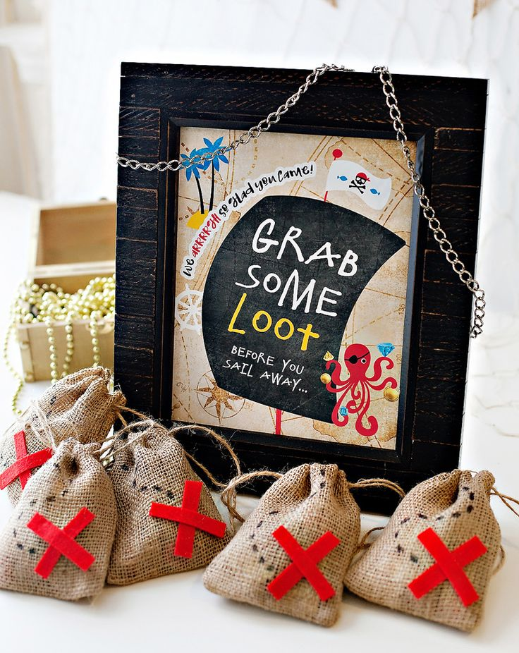 Pirate Party Favor Bags - X Marks the Spot