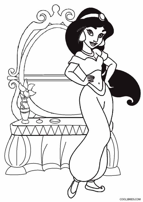 Раскраски с принцессой жасмин, вечерние открытки