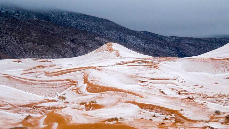 A sivatagban is esett a hó – lenyűgöző látvány – Termalfurdo.hu