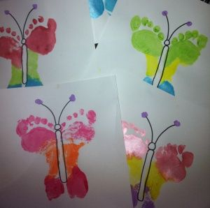 Footprint Butterflies - Great Mother's Day Idea