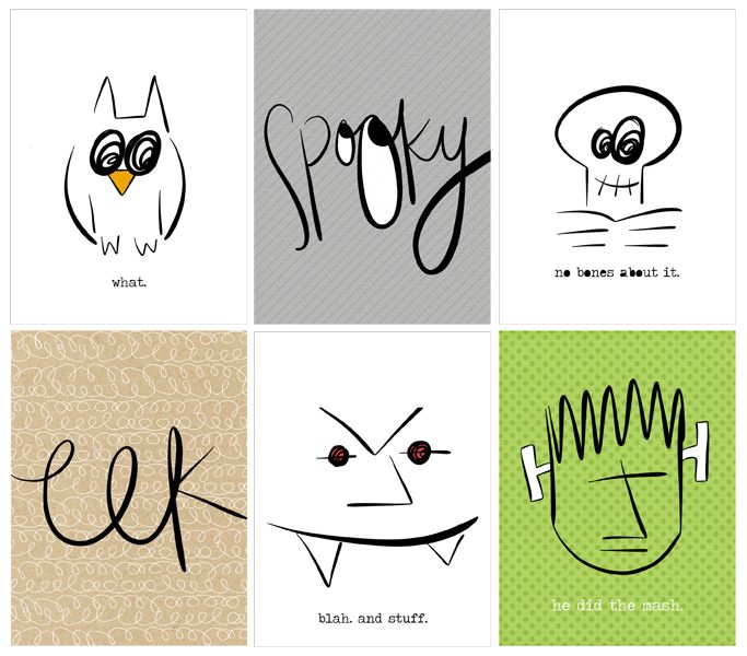 Free Halloween Printables {page 1} from p.s. please send chocolate