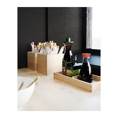 FÖRHÖJA Boîtes, lot de 4 - bouleau - IKEA