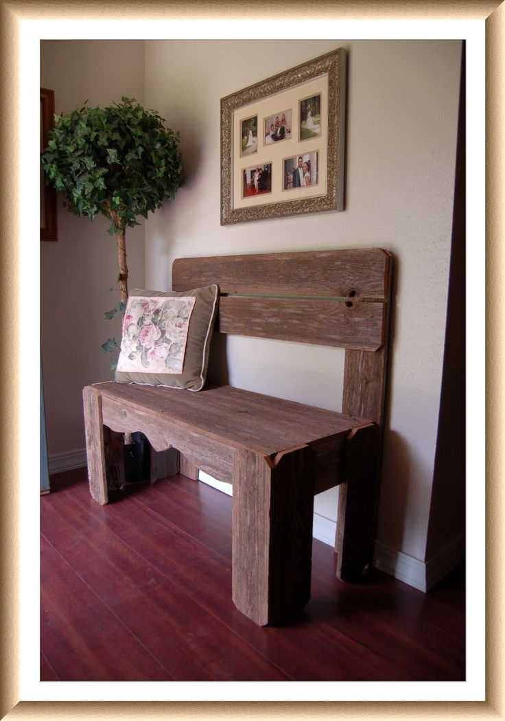 Reclaimed Wood Bench. Charming Rustic Furniture. Country Home Decor. Fall Entry Bench. Wooden Bench. Farm House Bench. $350.00, via Etsy.