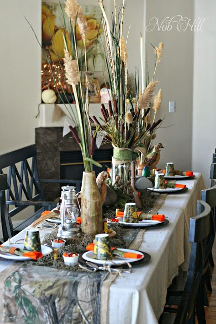 Thanksgiving - Duck Dynasty Style Table setting and decorations