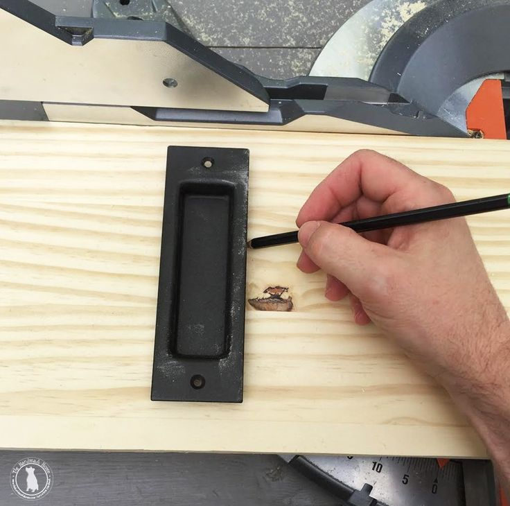 how to add a lock to your barn door - the handmade home