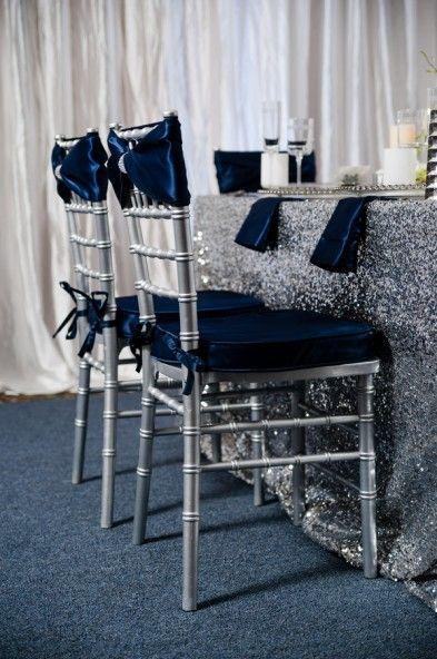 Glamorous Navy, Silver, and White Winter Wedding Inspiration - The Celebration Society