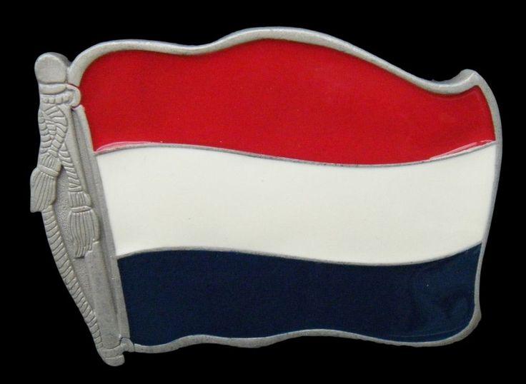 Holland Dutch Soccer World Country Flag Belt Buckle Boucle de Ceinture