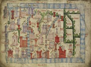 Margaret, Maid of Norway: Her Death Changed History: An English map of Scotland, about 150 years after Margaret's death