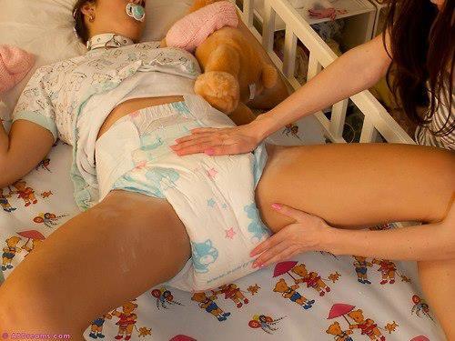 adult diaper boy change