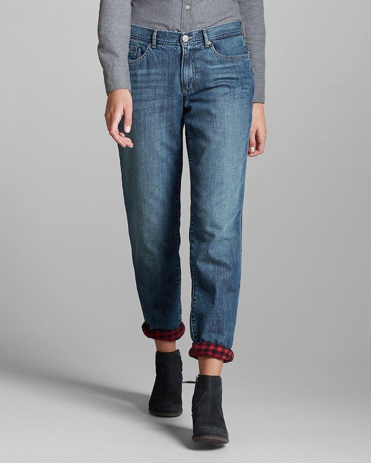 Women's Flannel-lined Jeans - Boyfriend   Eddie Bauer