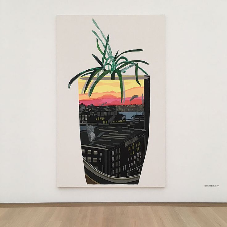 'Maritime Hotel Pot With Aloe', Jonas Wood. Sharing lots of peeks from our visit to the Jonas Wood exhibit in museum Voorlinden in Wassenaar. Not to be missed if you love art and plants!