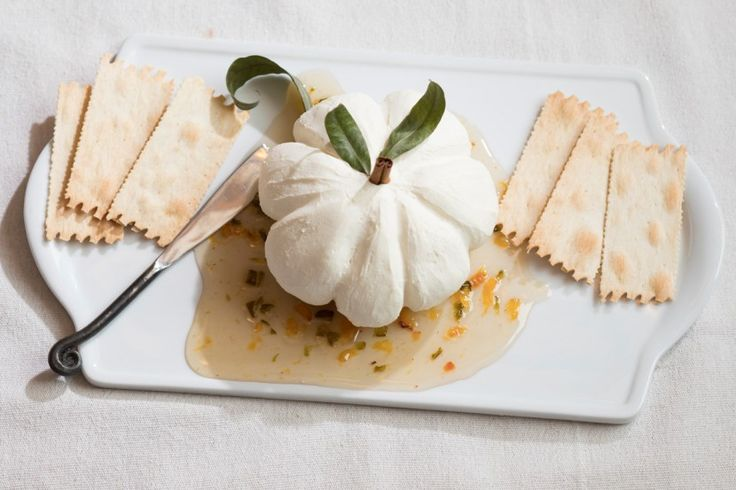 Cream Cheese Pumpkin Appetizer with Jalapeño Peach Jelly from Pottery Barn