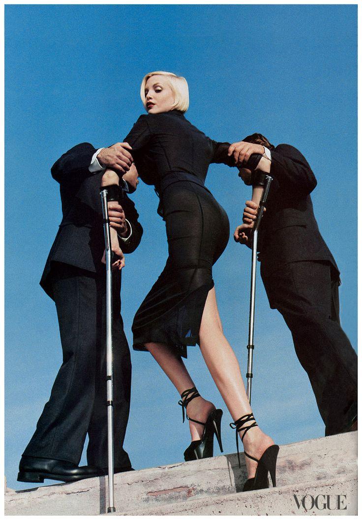 Nadja Auermann Photographed by Helmut Newton, Vogue,1995