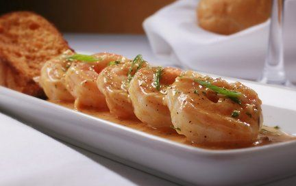 At Ruth's Chris Steak House, barbecued shrimp made from a classic New Orleans recipe is the most popular appetizer.