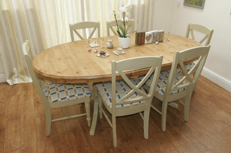 Shabby Chic Extending Dining Table and Chairs - Ducal - Annie Sloan Painted