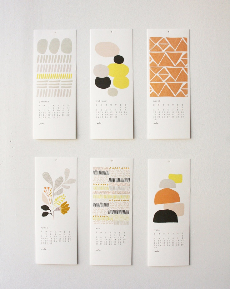 2013 12 Month Calendar 20% off. $26,00, via Etsy.