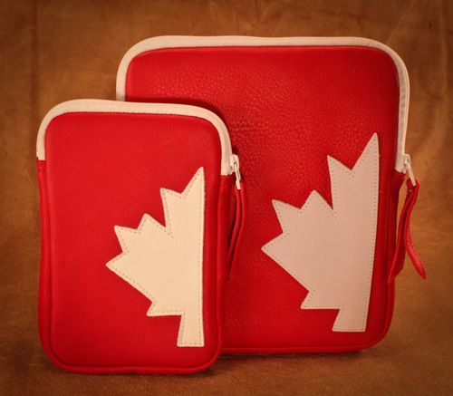 Deerskin Canadiana small & large IPad/tablet sleeves. #leather #Canada #handmade #rockwood #ontario #like #daily #fashion #hidesinhand