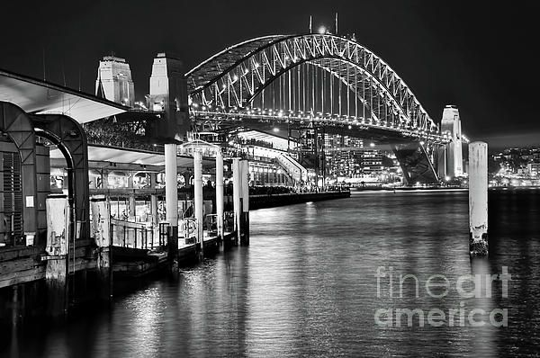 #Sydney #Harbour_Bridge Black and White by #Kaye_Menner #Photography Quality Prints Products at: https://kaye-menner.pixels.com/featured/sydney-harbour-bridge-black-and-white-by-kaye-menner-kaye-menner.html