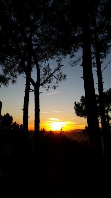 Por-do-sol na Serra de Sintra
