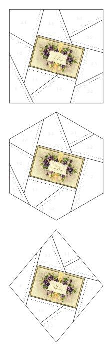 Many Happy Days crazy quilt block patterns posted on Janet Stauffacher's Nostalgic NeedleART blog in 2012.