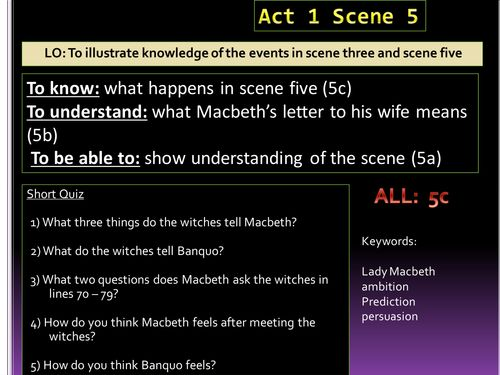 macbeth coursework witches Macbeth coursework coursework title: compare how shakespeare uses   macbeth's ambition to become the king of scotland is based on the witches'.