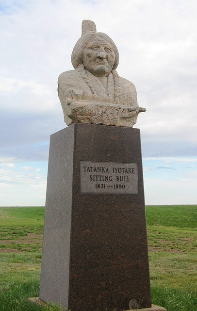 standing rock indian reservation | Sitting Bull grave monument, Standing Rock Indian Reservation, west of ...