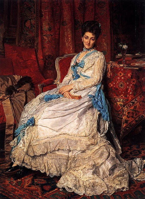 Jean-Louis-Ernest Meissonier (1815–1891) 1872 Portrait of Marquesa de Manzanedo (Museo del Prado, Madrid) oil on canvas 23.2 in x 19.3 in